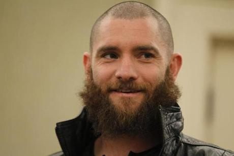 At Thursday's Boston Baseball Writers dinner, Red Sox outfielder Jonny Gomes was still sporting his beard — but he said that will soon change.